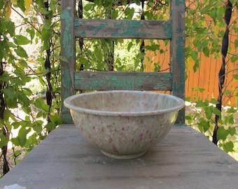"Vintage Kitchen Large Splatter Confetti Texas Ware Melamine Mixing Bowl 118 that measures 10"" x 4 7/8"" ~ 1950's Grandmas Kitchen ~"