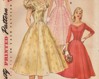 Simplicity 1673 / Vintage 50s Sewing Pattern / Dress / Size 18 Bust 38