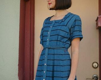 1950s Dress... 50s Dress... 40s Dress... Day Dress... Pretty Dress... Dress For Woman... Blue Dress... Cute Dress