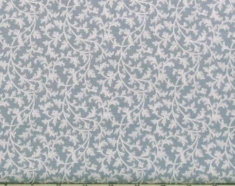 Light Blue and White Scroll Cotton Quilt Fabric Blender for Sale, Gentle Breeze Collection Maywood Studios, Fat Quarter, Yardage, MAS8518-B