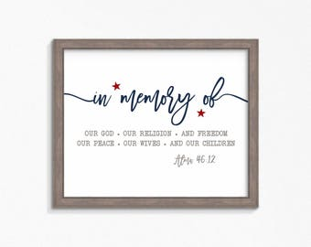 Title of Liberty-Patriotic-Fourth of July-Memorial Day-Captain Moroni-Multiple Size choices included-Instant download printable