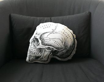 Skull Pillow anatomical skull medical student gift nurse practitioner medical school gift nurse graduation doctor gift general surgeon goth