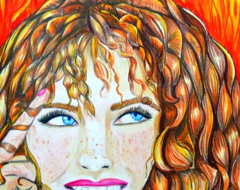 Resist Art/ colored pencil art