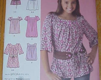 Simplicity Pattern - Simplicity 2689 Size AA 8-10-12-14-16 Girls Sizes 8-16 - new!