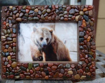 Frame Pebble Mosaic Photo