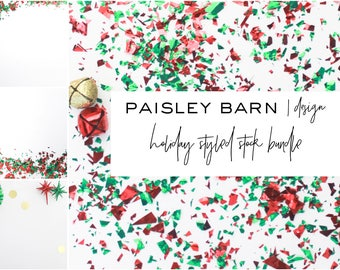 Styled Stock Photography | Christmas | Red Green Gold | instagram, blog, branding, holiday, promotion, social media, digital background