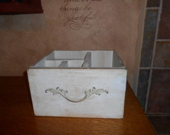 Vintage Drawer, Divided Storage Caddy, shabby chic, antiqued