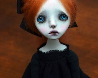 Handmade Collectible Unique -OOAK- Clay poseable Art doll -Kasey