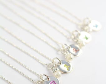 Girl Necklace , Jewelry for Girls , Initial Necklace for Girls 925 Sterling Silver