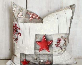 Christmas Pillow Cover / Holiday Rustic Decor / Christmas Throw Pillow / Holiday Pillow Cover / Christmas Decor