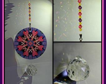 Mandala Suncatcher Bleeding Heart Chakra Boho New Age Sacred Geometry Hippie Kaleidoscope Meditation Zen Unique Gift For Her Thats Amore