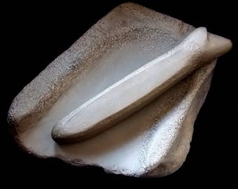 Stone mortar and pestle miniture Reproduction