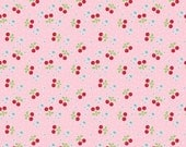 Cherry Fabric - Bake Sale 2 Fabric by Lori Holt - Pink - Lori Holt Fabric By The 1/2 Yard or Fat Quarter