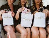 Custom gift bags + MEDIUM Wedding gift bags + Bridal shower gift bag + Bachelorette Party bags + Welcome Bags / Handwritten