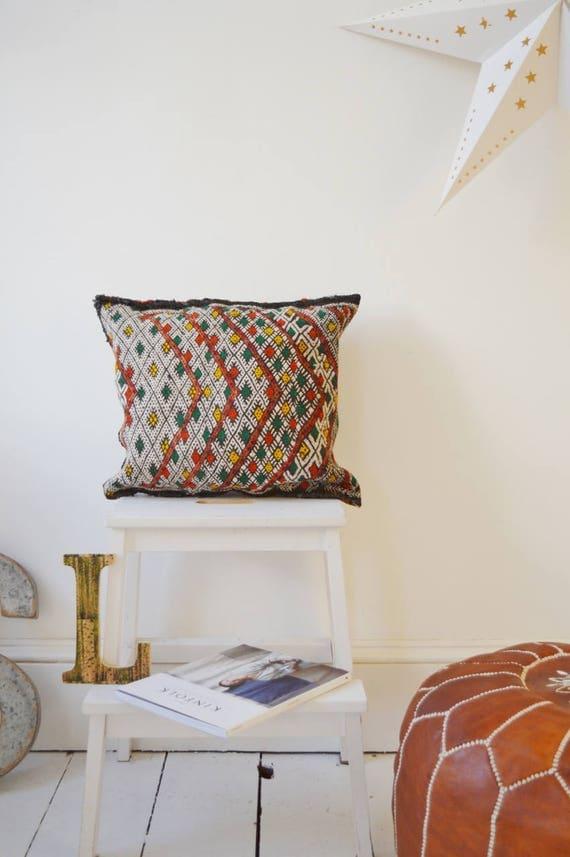 Vintage Moroccan Pattern Kilim Berber Carpet Cushions-lumbar, vintage cushions, christmas gifts, gifts, No.17