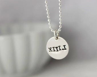 13.1 half marathon roman numeral necklace • Runners gift • Athlete gift • Running jewelry • Gift for runner • Race training jewelry