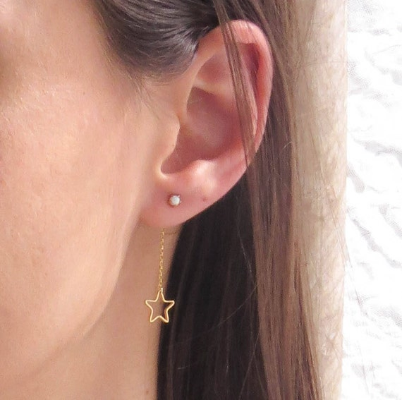 Opal and Star Earrings
