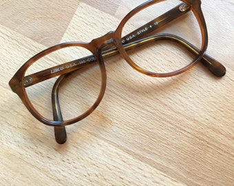 1970s Brown Tortoiseshell Glasses Frames // Hipster Libco Eyeglasses