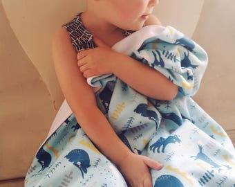 twilight woods baby blanket, baby name blanket,  personalized baby blanket, boy baby blanket, monthly photo blanket