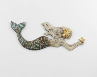 Mermaid Wall Art,Mermaid Wall Decor,Mermaid Gift,Mermaid Nursery Decor,Mermaid Bathroom,Beach Bathroom