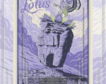 Lotus Red Rocks Screen print gig poster