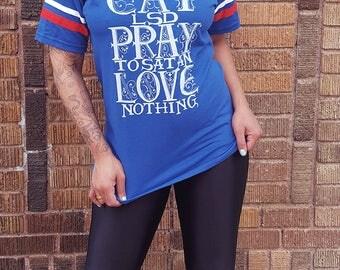 Eat LSD, Pray to Satan, Love Nothing - AMERICA! Edition Ringer T-shirt S-XL