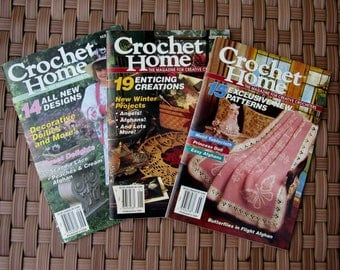 Lot of 3 Back Issues CROCHET HOME MAGAZINE by The Needlecraft Shop