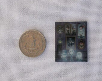 Acrylic Haunted Mansion Ghosts Inspired Bow Center Magnet Badge Reel Accessories Disney World