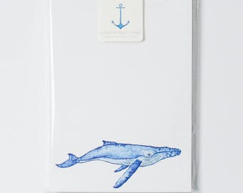 Humpback Whale Notepad- Small 5x7