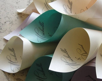 Personalized Wedding Petal Favor Cones