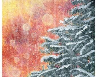 Snowy Sunset fine art print