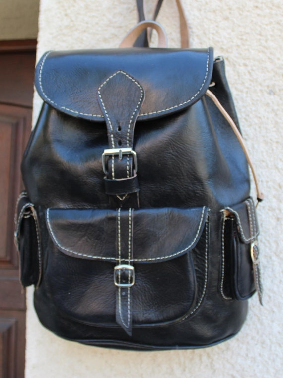 SALE !Black leather backpack, womens leather backpack, black leather laptop backpack