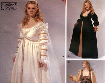 Simplicity 5294 Sewing Pattern for Women's Renaissance Costume Gown - Size 18W-24W