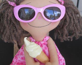 Sunglasses Summer Raggedy Ann loves Ice Cream