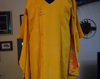Vintage Silk Michiyuki Kimono