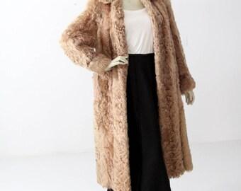 Curly lamb fur coat | Etsy