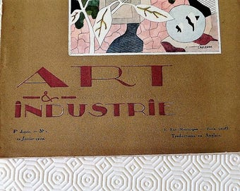 French Art Deco magazine 1929 Art & Industrie First Edition Number 1