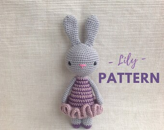 Lily | Crochet Bunny, Crochet Pattern, Crochet Bunny Pattern, Amigurumi Pattern, Amigurumi Bunny, Amigurumi Bunny Pattern, PDF