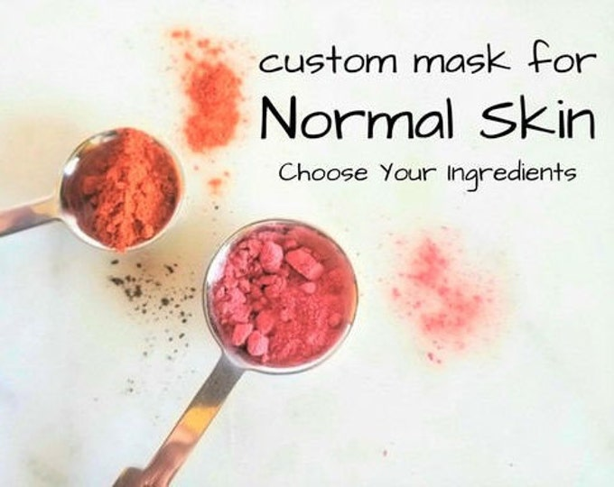 Featured listing image: Clay Face Mask for Normal Skin | Kaolin Clay Facial Mask | Create Your Blend for Normal Skin