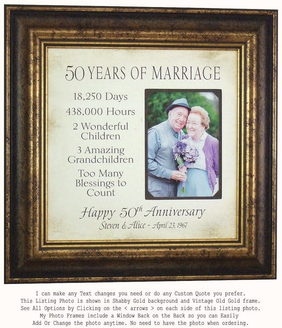 One Year Wedding Anniversary Gifts: Parents Anniversary Gift 50th Anniversary 50 Years Wedding