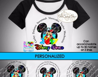 Disney Printable Iron On Transfer PERSONALIZED Matching Diy Family Shirts Group Vacation Ship Door Sign Digital Printable # 1851