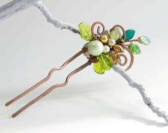 Woodland Greens Hair Pin