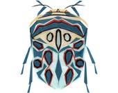 Picasso Bug - Bug Art Print, Bug Decor, Insect Art Print