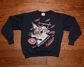 vintage 90s Georgia Bulldogs sweatshirt vintage 1994 Taz Looney Tunes Georgia University pullover sweatshirt L large