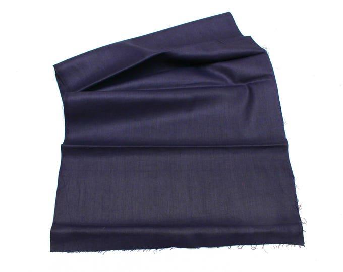 Japanese Indigo Cotton. Artisan Aizome Textile. Blue Vintage Folk Fabric (Ref: 1819)