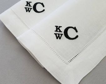 2 Year Wedding Anniversary Cotton Gift for Husband - Set of 2 Handkerchiefs - Anniversary Gift For Husband - Cotton Anniversary Gift for Him
