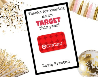 Thanks for Keeping Me on TARGET Gift Card Holder Teacher Gift Appreciation 4x6
