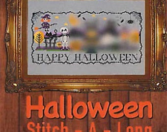 NEW Halloween Stitch-A-Long SAL 3-part series counted cross stitch patterns by Tiny Modernist