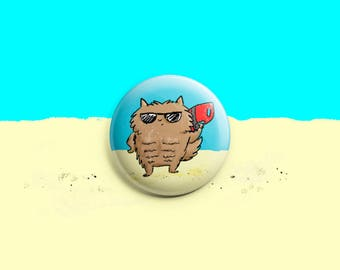 Lifeguard Cat ~ Purrfect Pinback Button