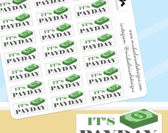 Payday Stickers, Money Stickers, Payday, Happy Payday, It's Payday, Payday Sticker - Perfect for Planners and Calendars - MN088